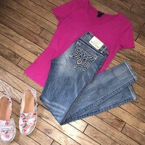 MEK Distressed Rossland Skinny Jeans